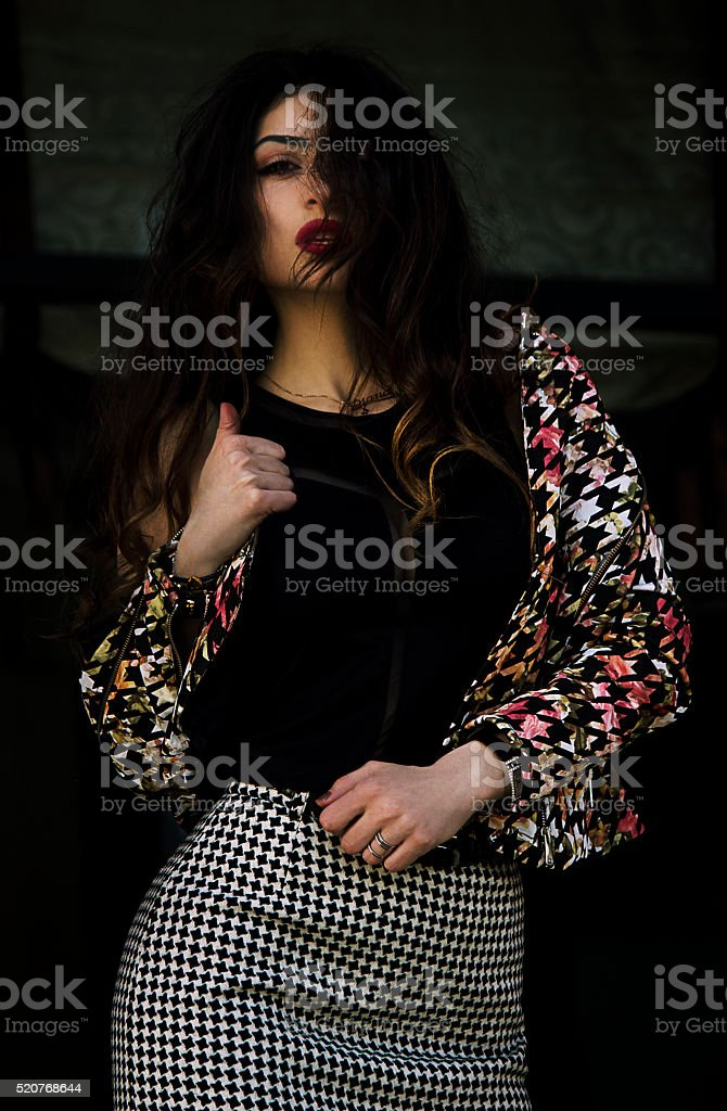Fashion girl 1 stock photo
