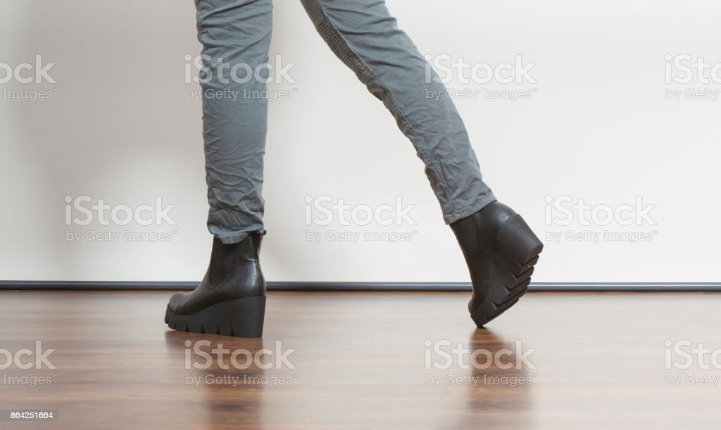 Fashion girl in shoes. royalty-free stock photo