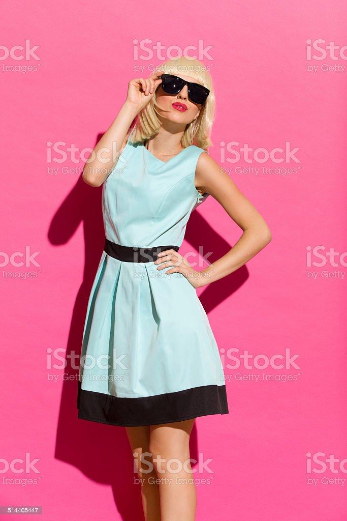 Fashion girl in the sunlight stock photo