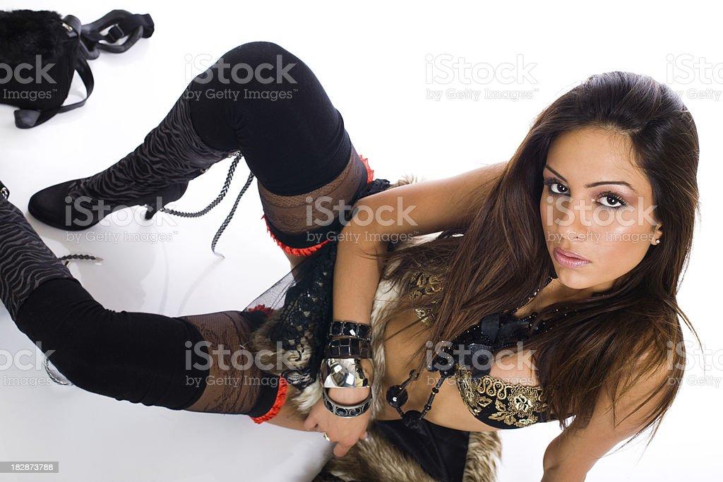 Fashion girl royalty-free stock photo