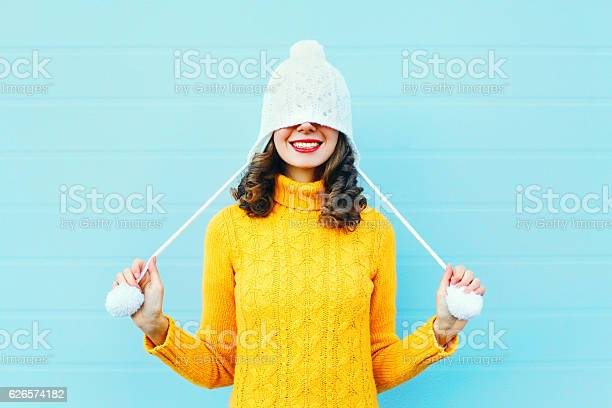 Fashion happy young woman in knitted hat sweater having fun picture id626574182?b=1&k=6&m=626574182&s=612x612&h=64n5vbqgy8qnaydpxlz39h djammruhpjebmim8l9uu=