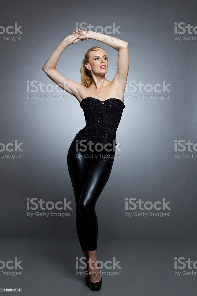 Fashion in black royalty-free stock photo