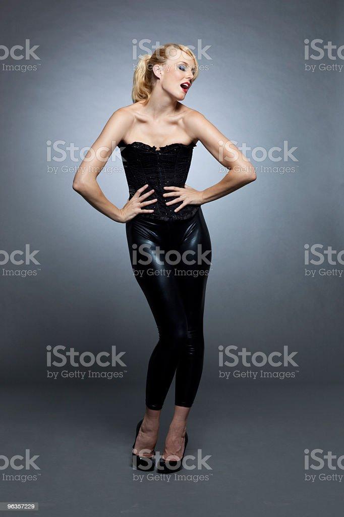 Fashion in black royalty-free stock photo