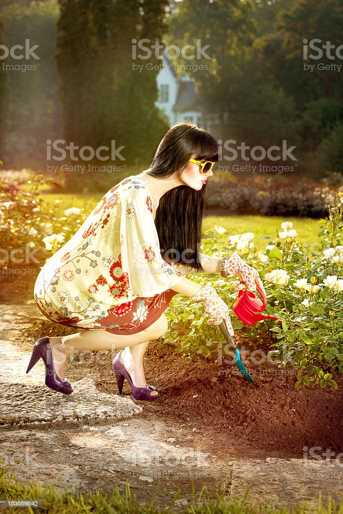 Fashion in the garden royalty-free stock photo