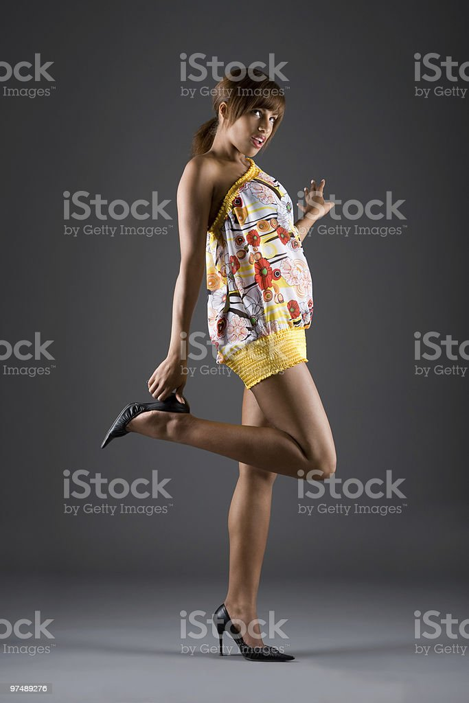 Fashion in the studio royalty-free stock photo