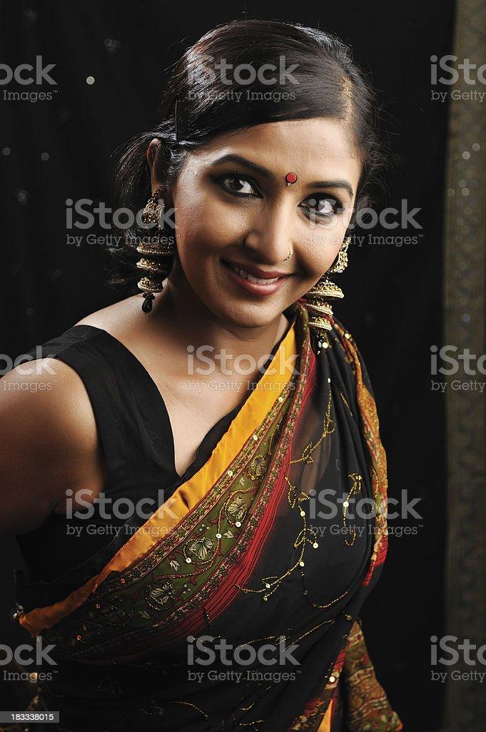 Fashion Indian headshot royalty-free stock photo