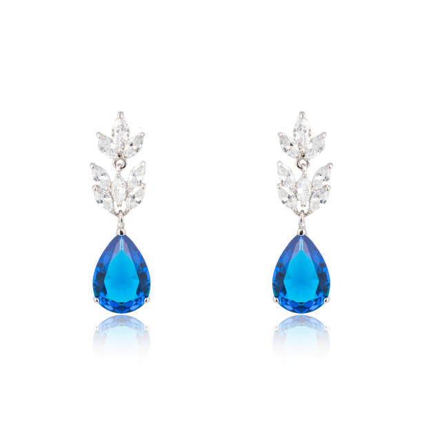 fashion jewellery - sapphire gemstone stock photos and pictures