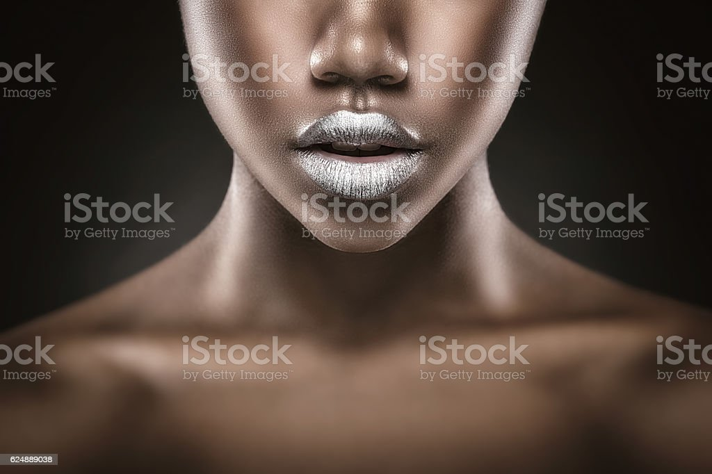 Fashion lips stock photo