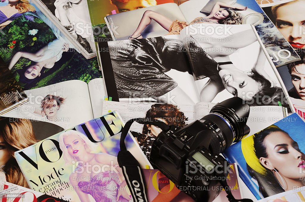 Fashion magazines stock photo