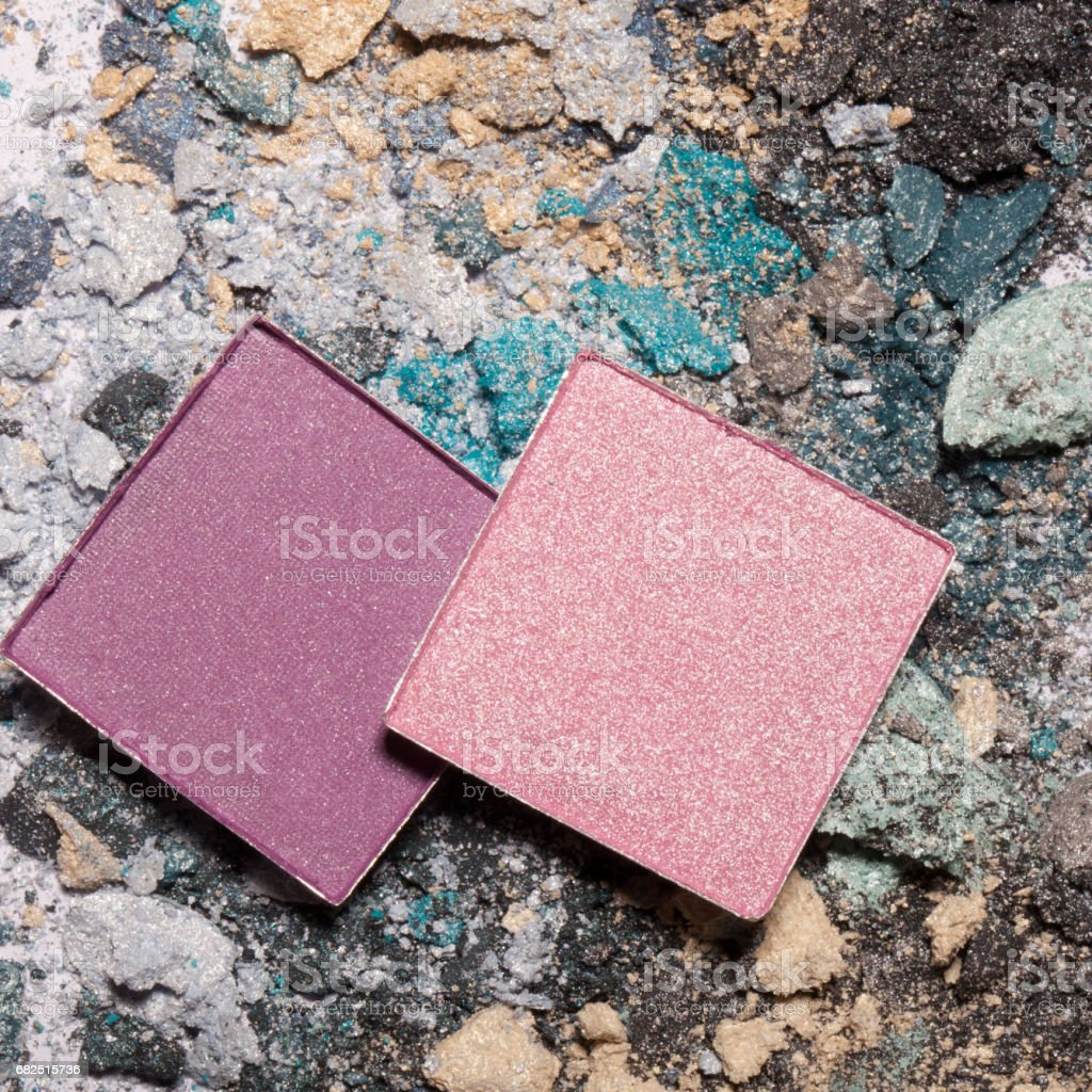 Fashion makeup top view, close-up. royalty-free stock photo