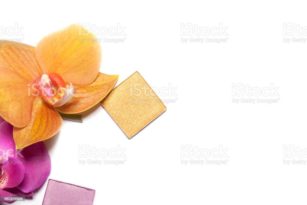 Fashion makeup top view, close-up. royalty-free stock photo