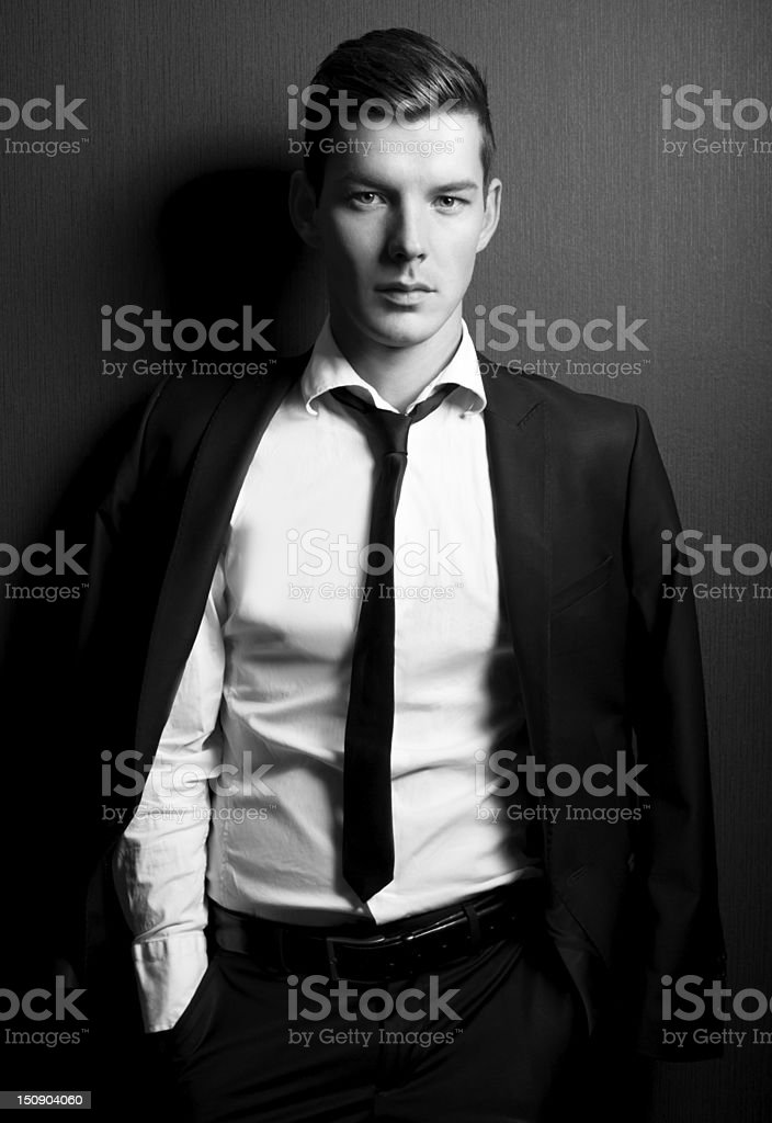 Moda Masculina modelo - fotografia de stock