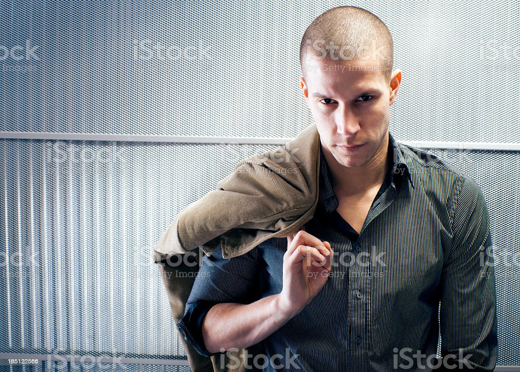 Fashion male model stock photo