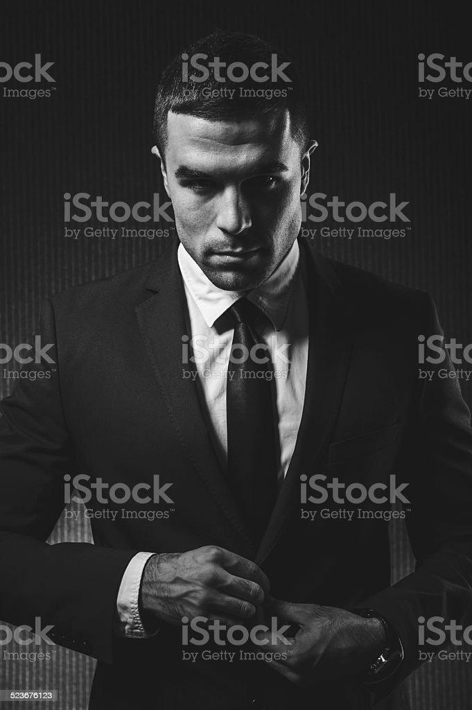 Fashion man stock photo