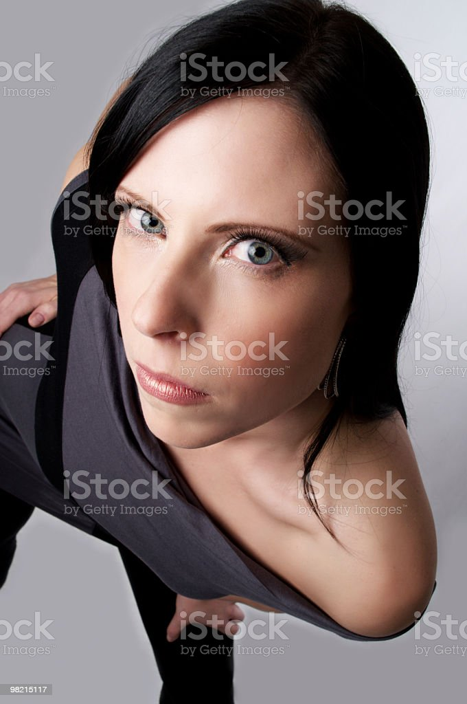 Fashion model glares at camera. royalty-free stock photo