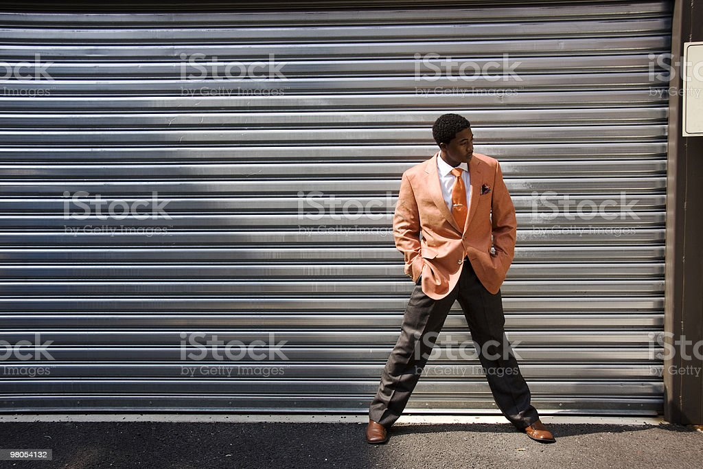 Fashion Model in Alley royalty-free stock photo