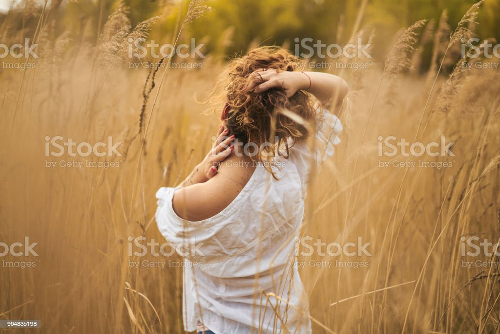 Fashion model in autumn clothes - outdoor shot royalty-free stock photo