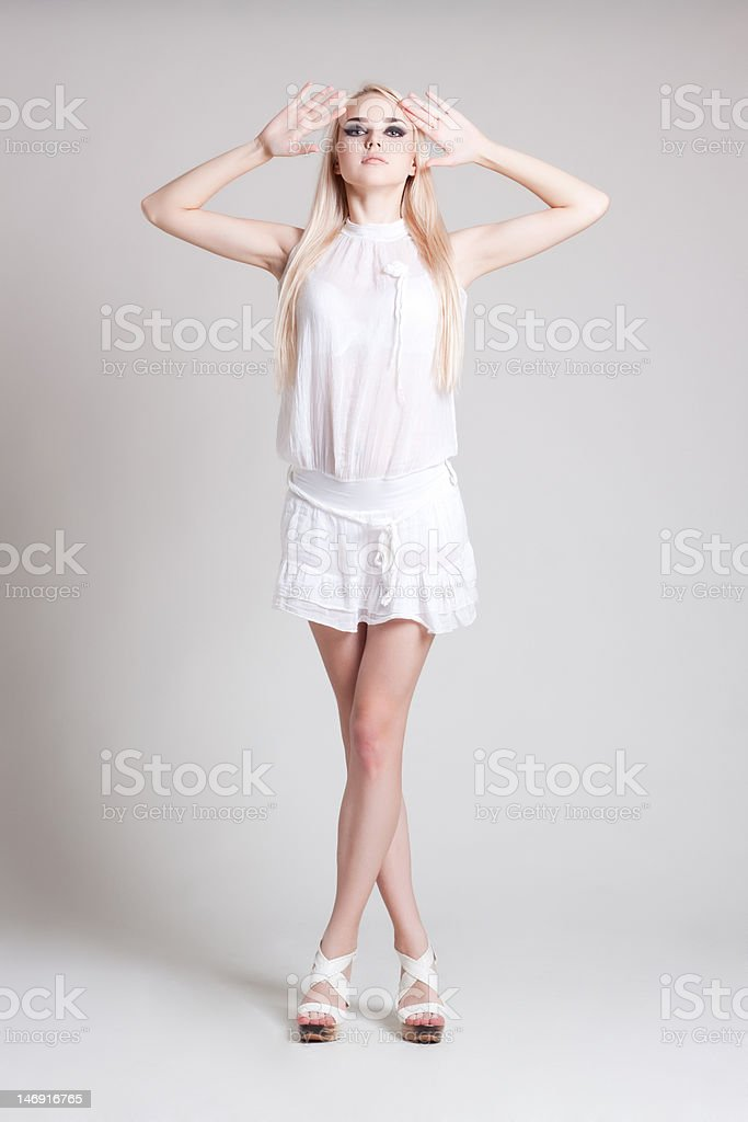 fashion model in glamour dress royalty-free stock photo