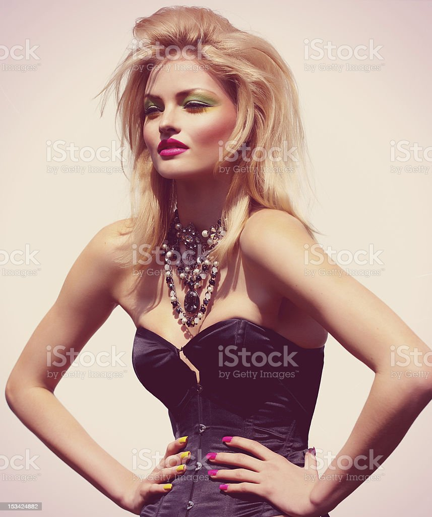 Fashion Model In Sunlight stock photo