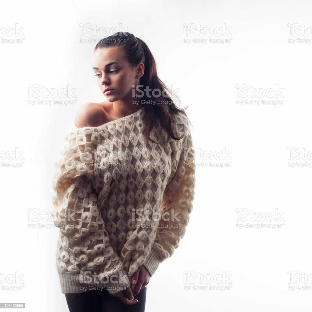 fashion model isolated stock photo