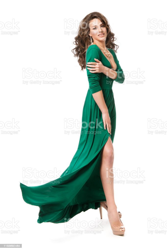 Fashion Model Vestido Largo Mujer Belleza Peinado Longitud