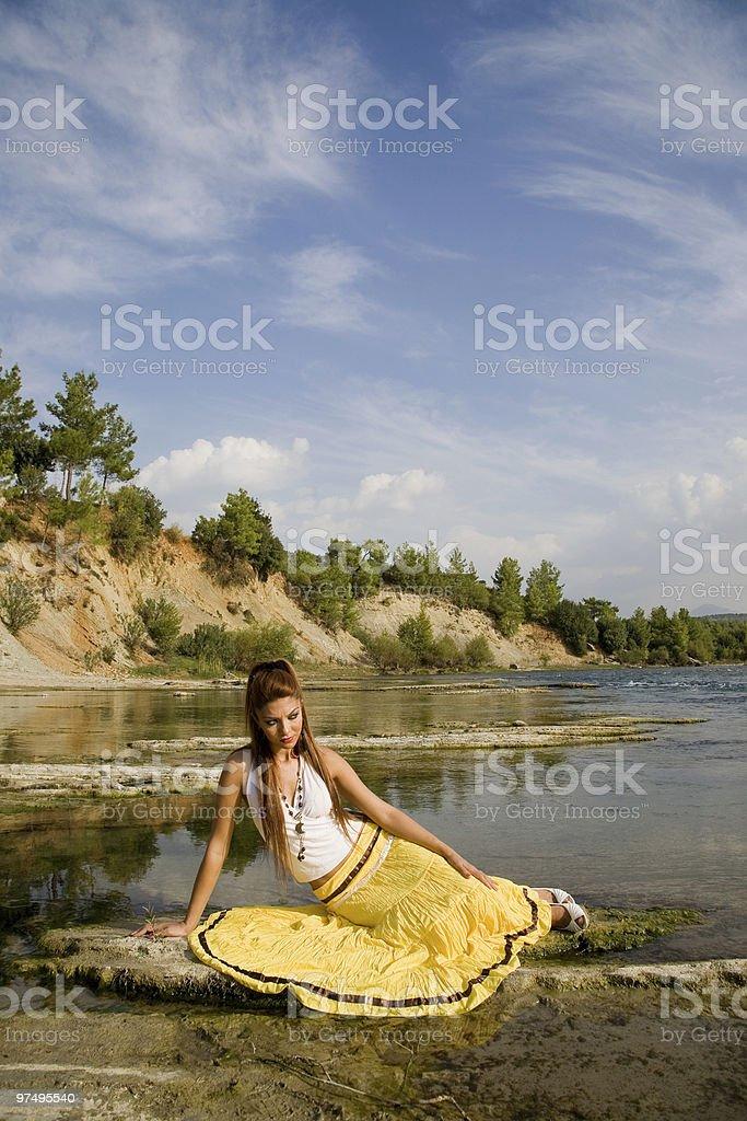 Fashion model outdoor royalty-free stock photo