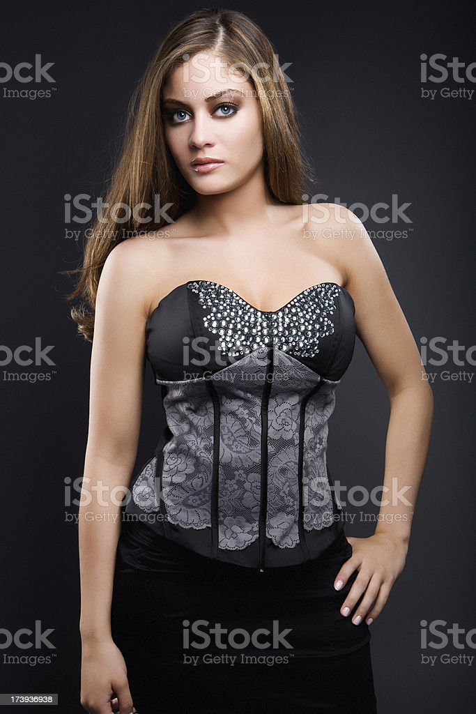 fashion model posing royalty-free stock photo
