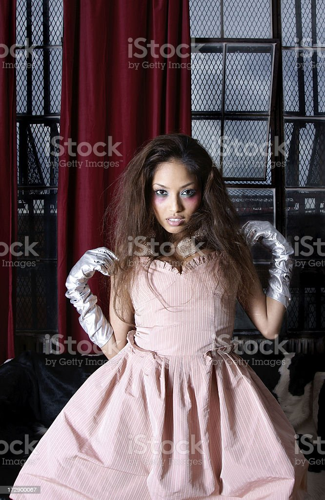 fashion model: rock party girl royalty-free stock photo