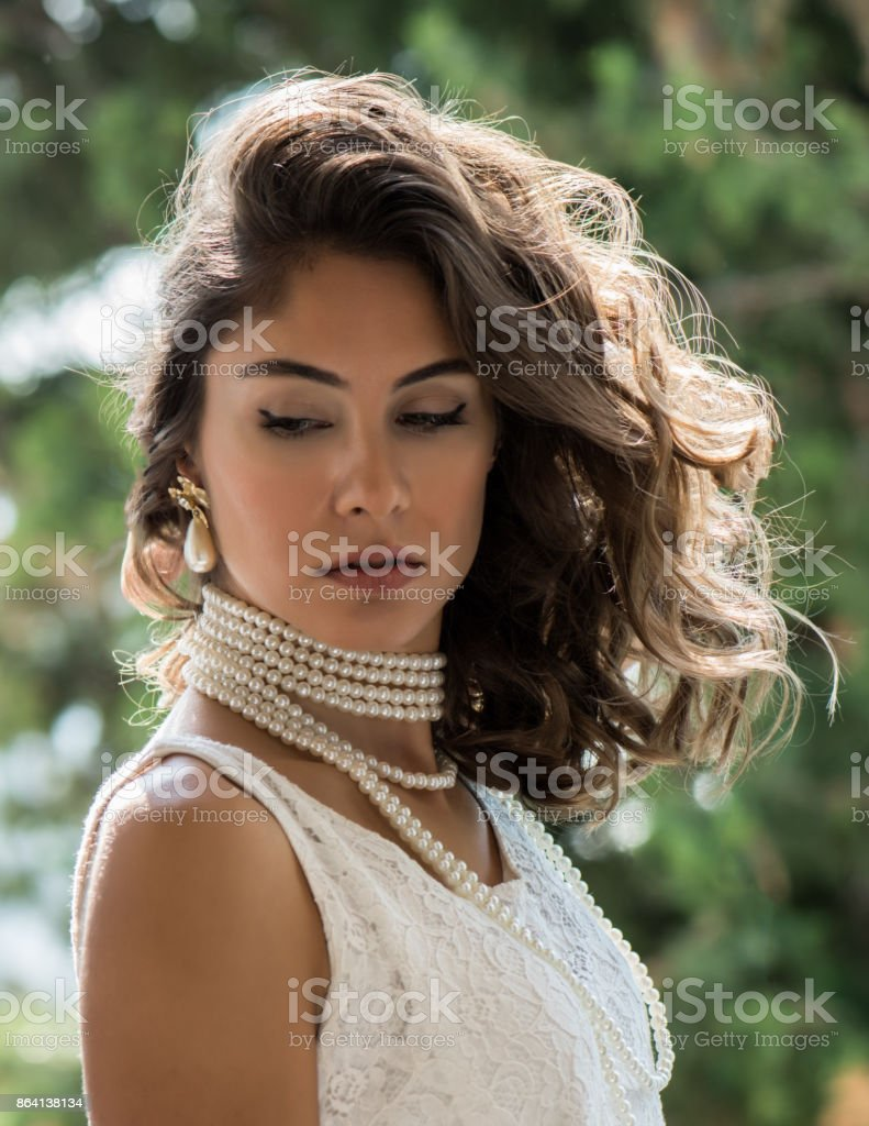 Fashion model with seductive look royalty-free stock photo
