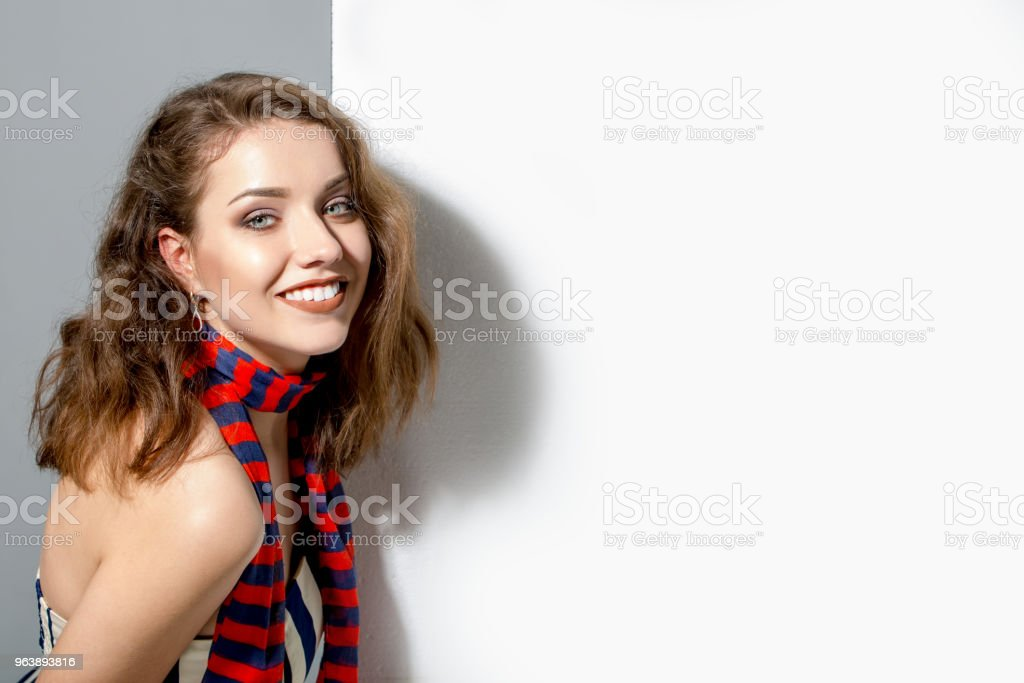 Fashion model with straight hair - Royalty-free Adult Stock Photo