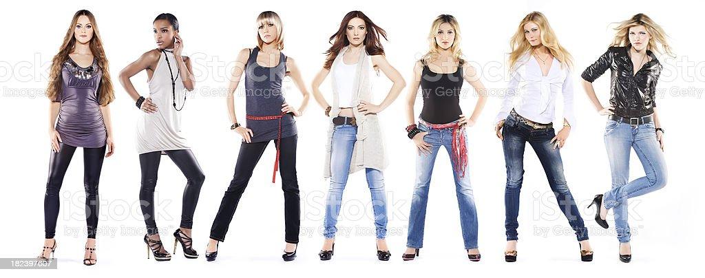 fashion models posing stock photo