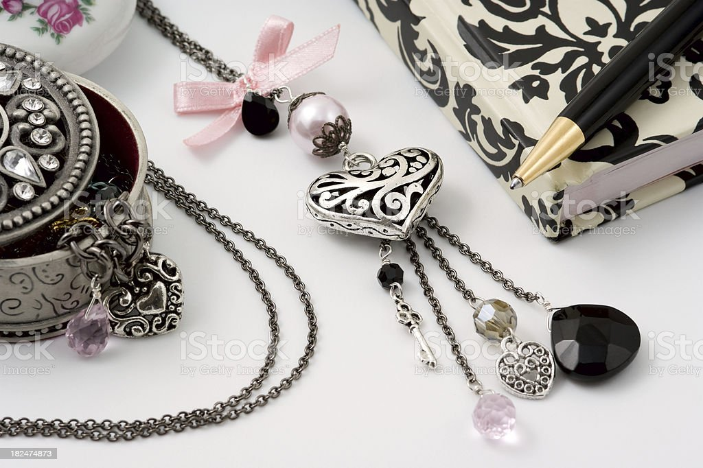 Fashion Necklace Closeup royalty-free stock photo