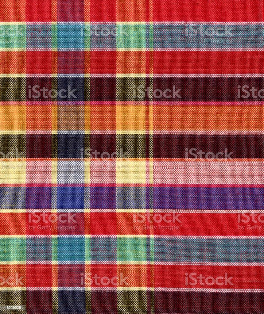 Fashion of colorful square fabric. stock photo