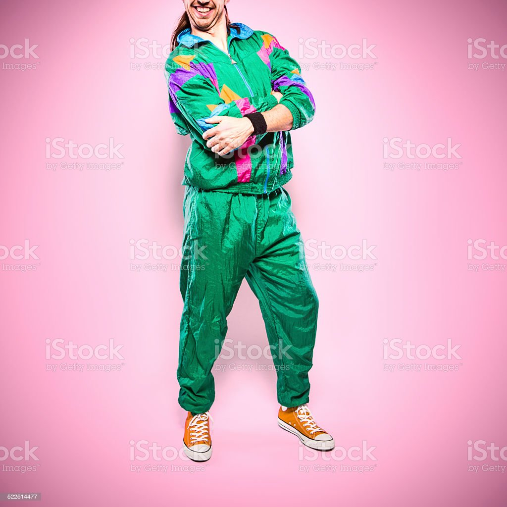 Fashion of the Nineteen Eighties and Nineties stock photo