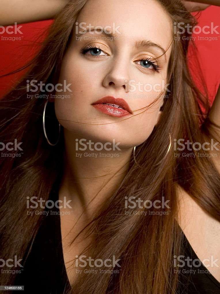 Fashion On Red stock photo