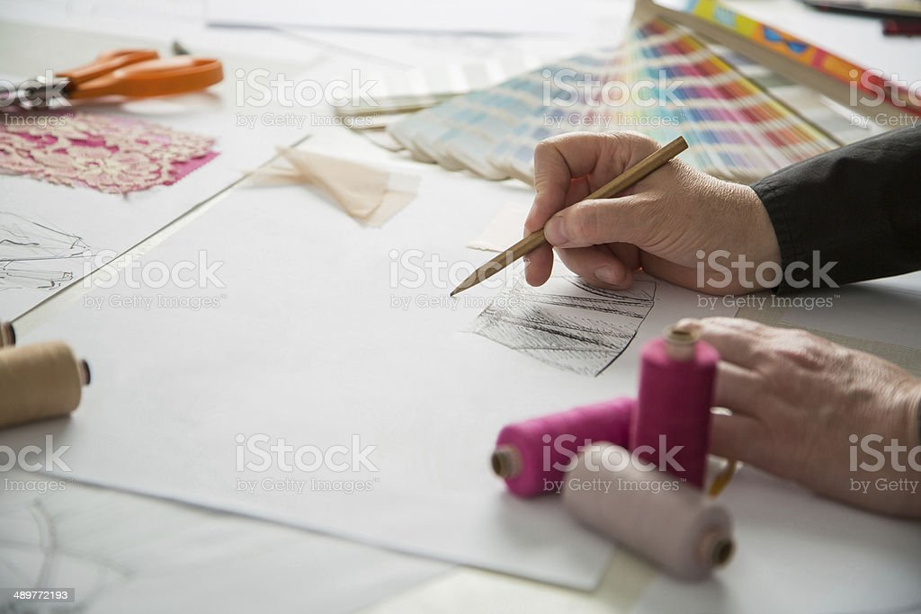 fashion or tailor designers stock photo