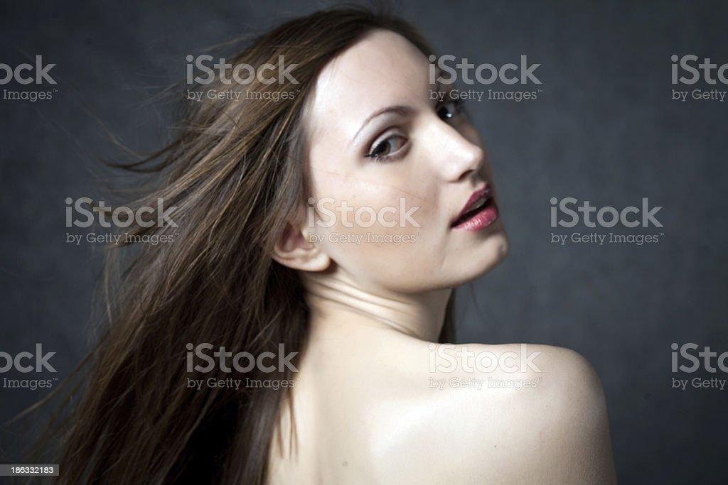 Fashion photo of beautiful seminude woman royalty-free stock photo