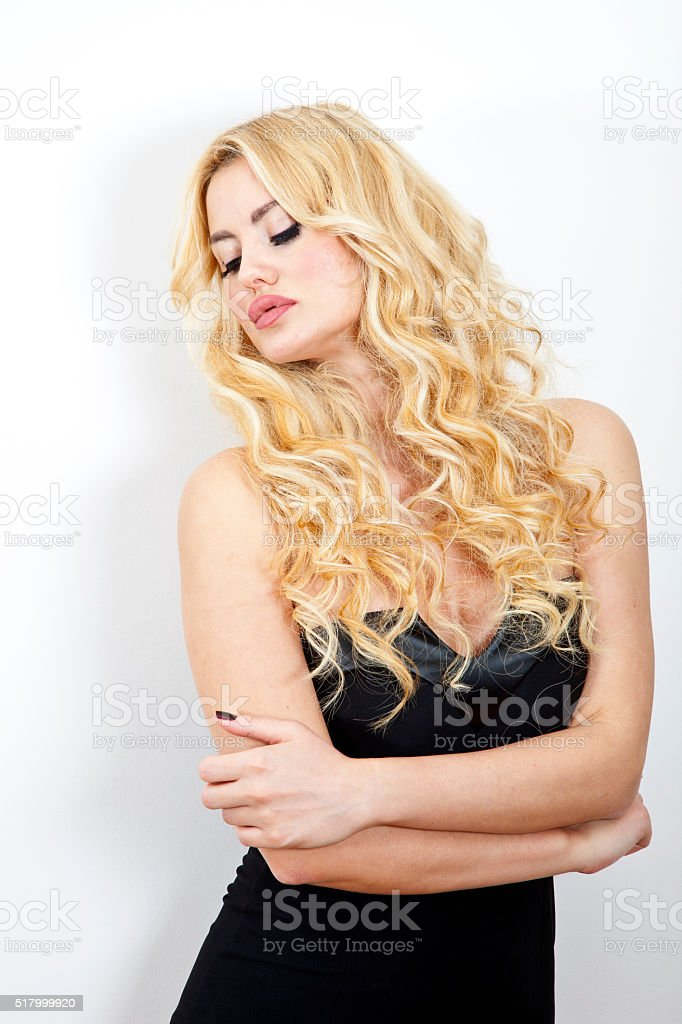 Fashion Photo Of young Magnificent Woman. Girl Posing. stock photo