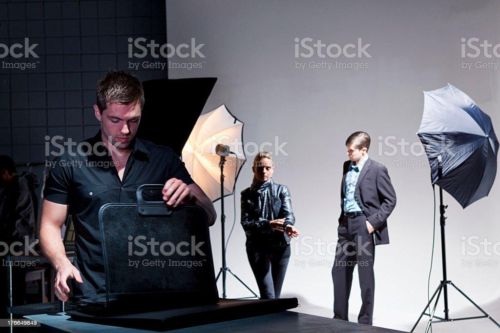Fashion sesión de fotos foto de stock libre de derechos