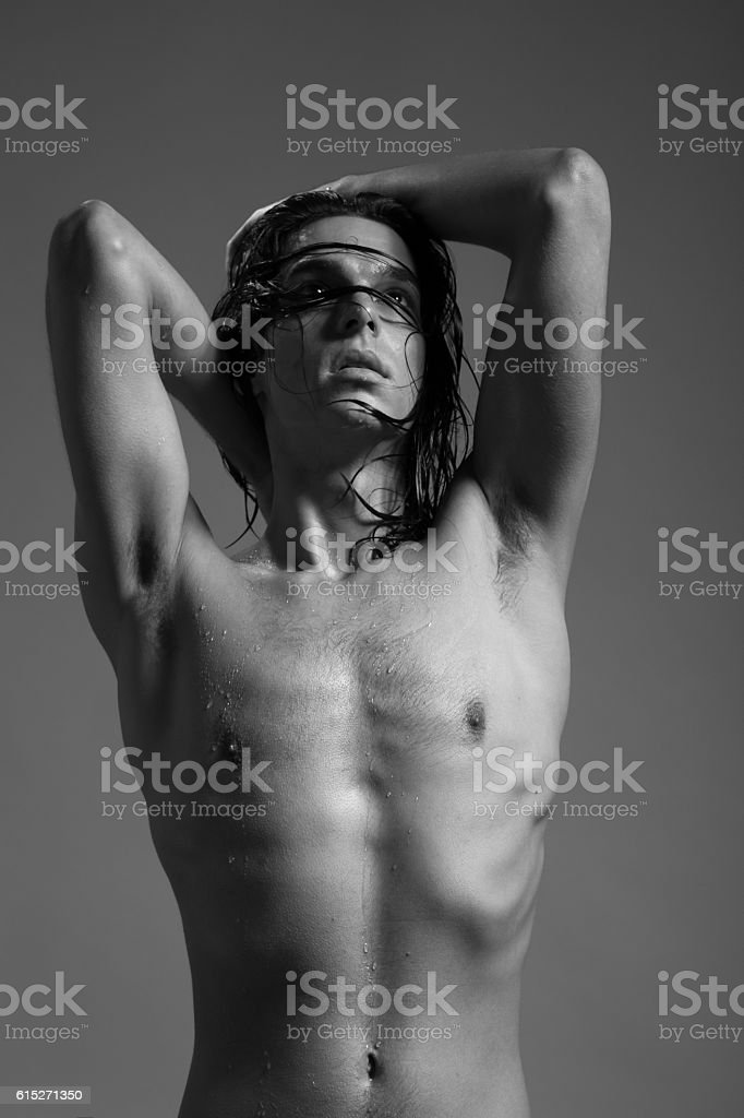 Naked young men with long hair pictures light