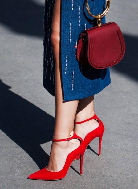 de moda - moda de calçados - fotografias e filmes do acervo