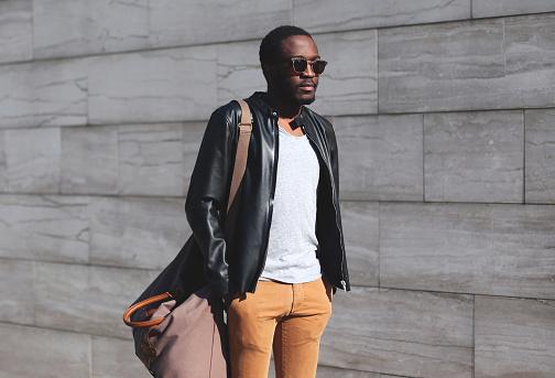 627398448 istock photo Fashion portrait elegant african man wearing a sunglasses 625299550