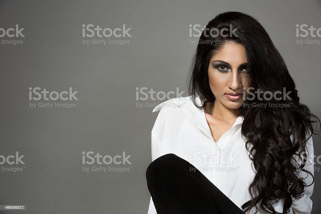 fashion portrait of a beautiful indian girl royalty-free stock photo
