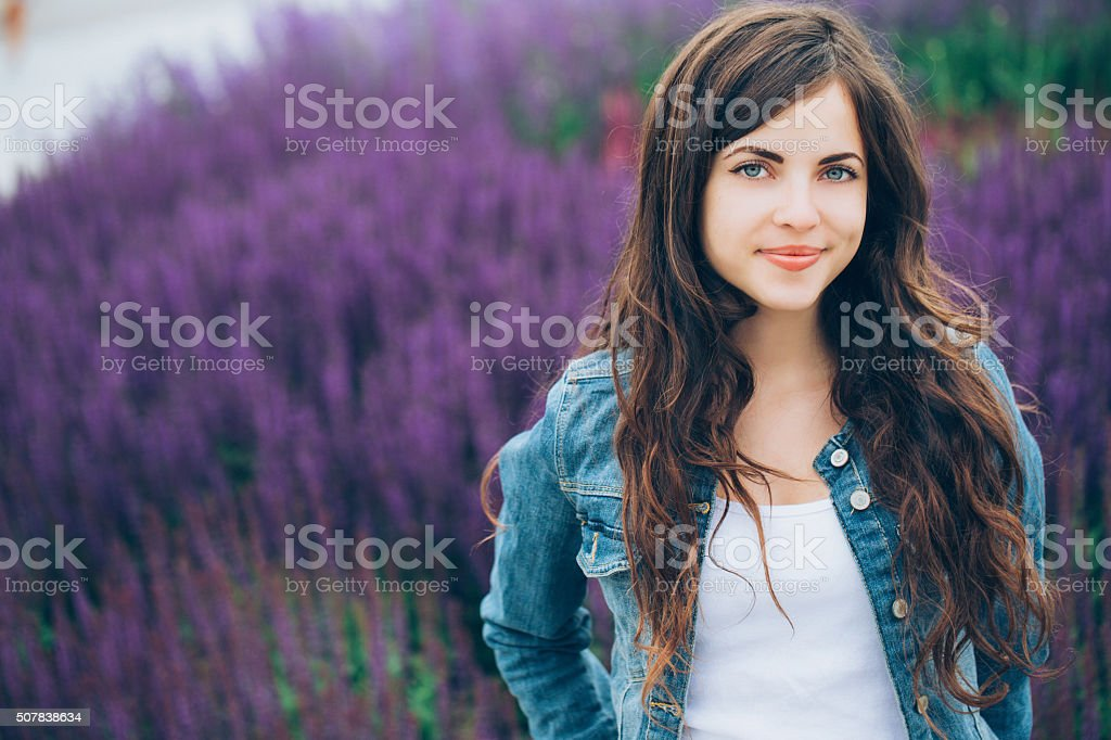 Fashion portrait of a modern girl stock photo