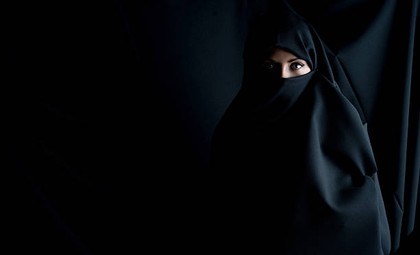 Fashion portrait of a Muslim woman stock photo