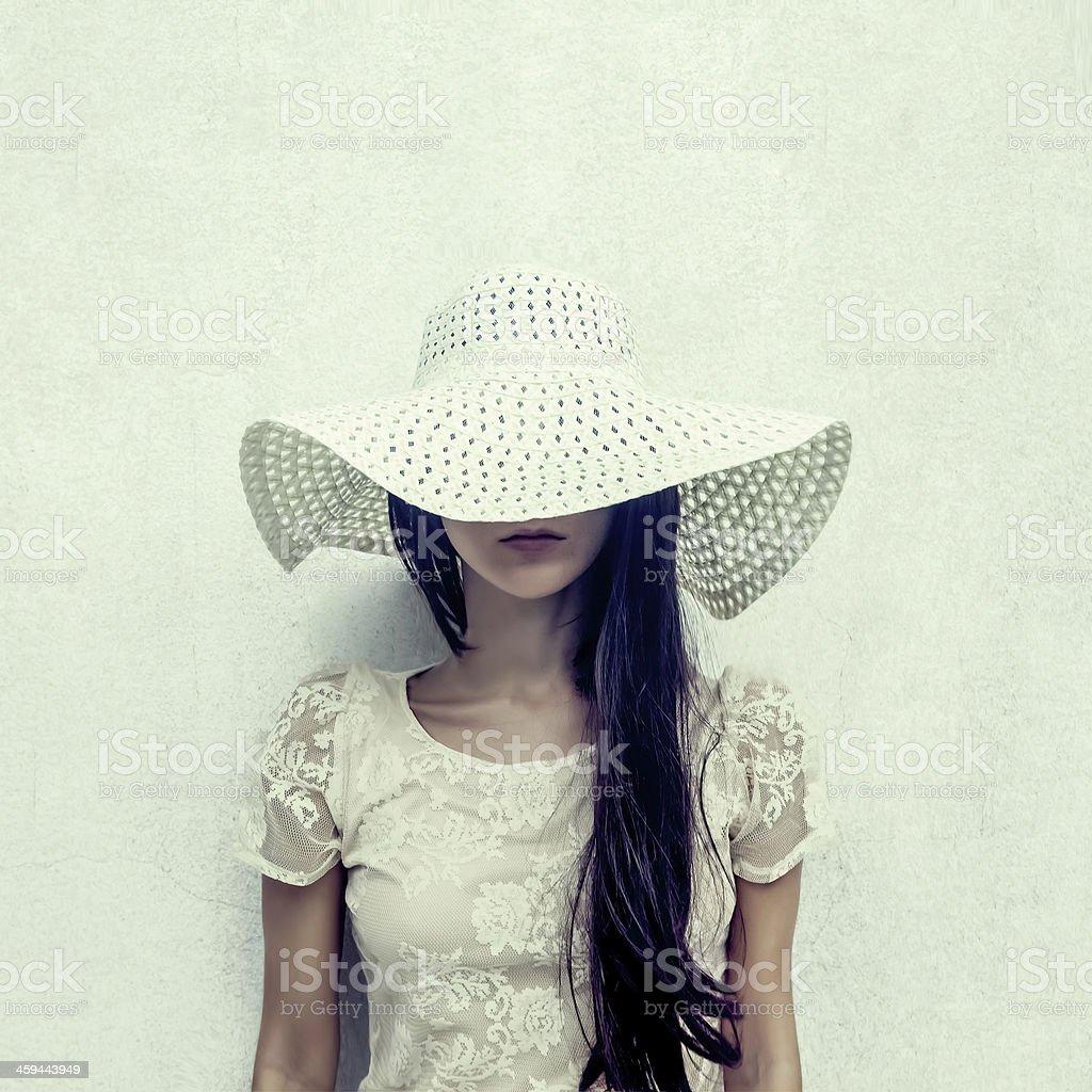 fashion portrait of a sensual girl stock photo