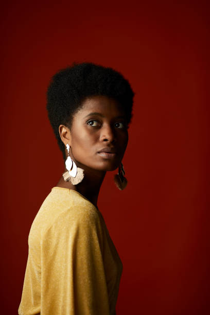 Fashion portrait of african american woman. Fashion portrait. afro caribbean ethnicity stock pictures, royalty-free photos & images