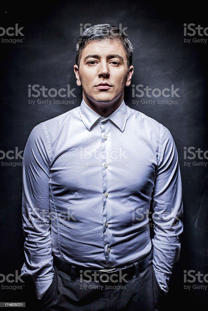 Fashion portrait of an elegant man royalty-free stock photo
