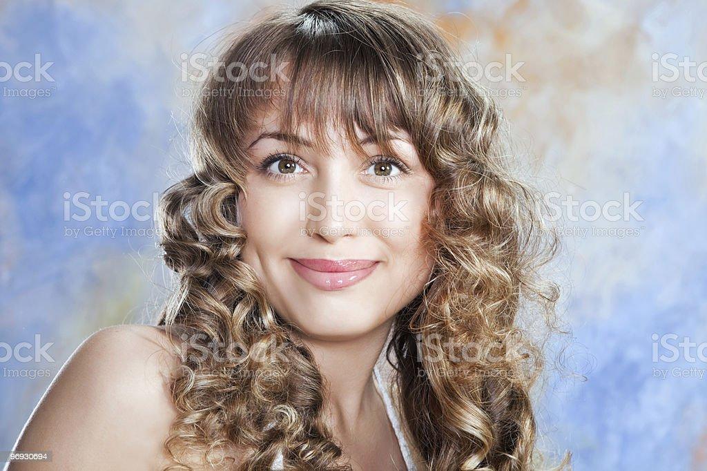 fashion portrait of beautiful blond girl royalty-free stock photo