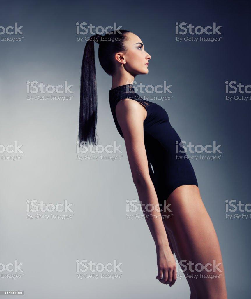Fashion portrait of beautiful woman stock photo